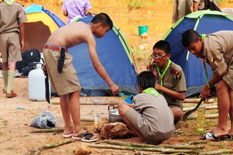 Thai Scouts royalty free stock photos