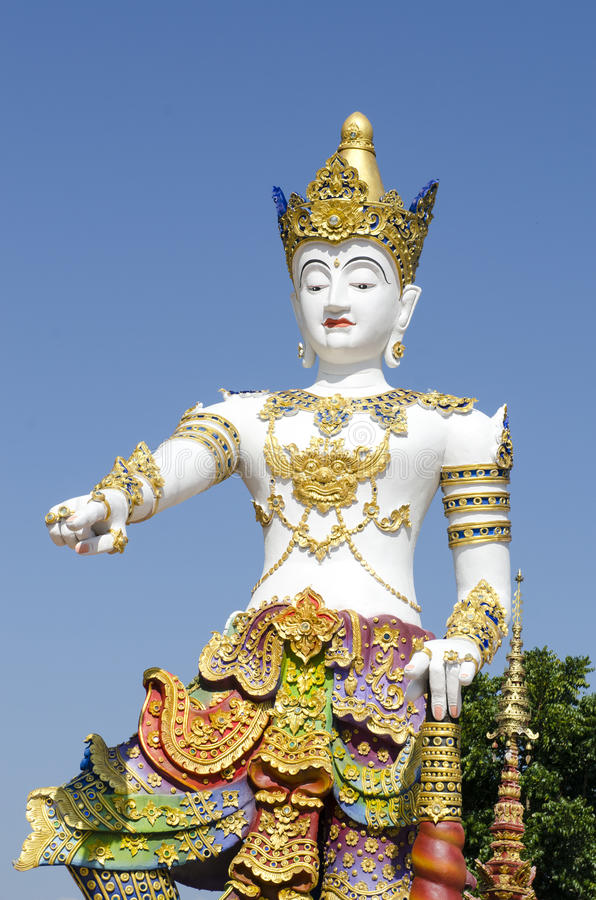 Thai sculpture style of beautiful angel statue stock photos