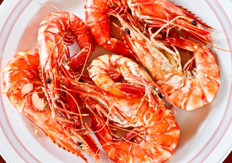Download Thai Seafood, Delicious Steamed Prawns 2 Royalty Free Stock Photo - Image: 26495495