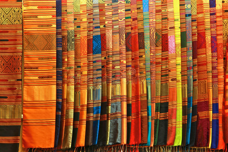 thai silk royaltyfri foto