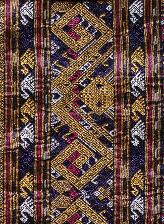 Thai silk pattern royalty free stock images