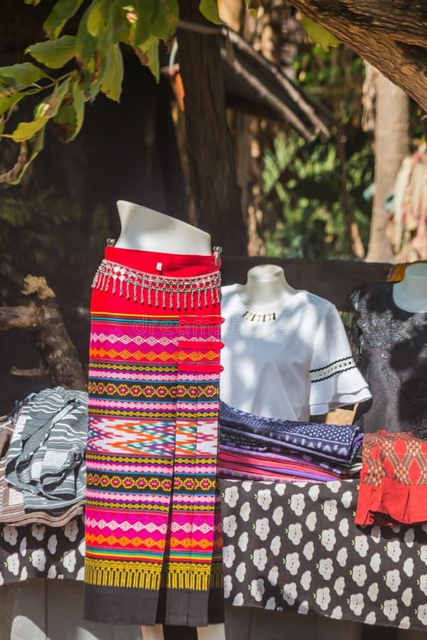 thai silk skirt on hanger royalty free stock images