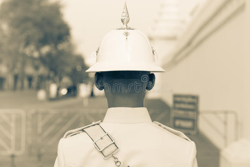 thai soldat royaltyfria bilder
