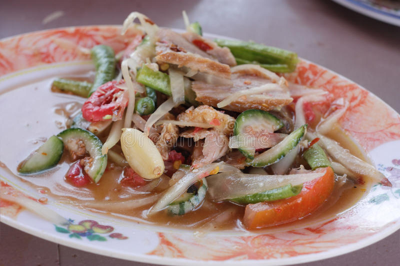 Thai SomTam Salad royalty free stock photography