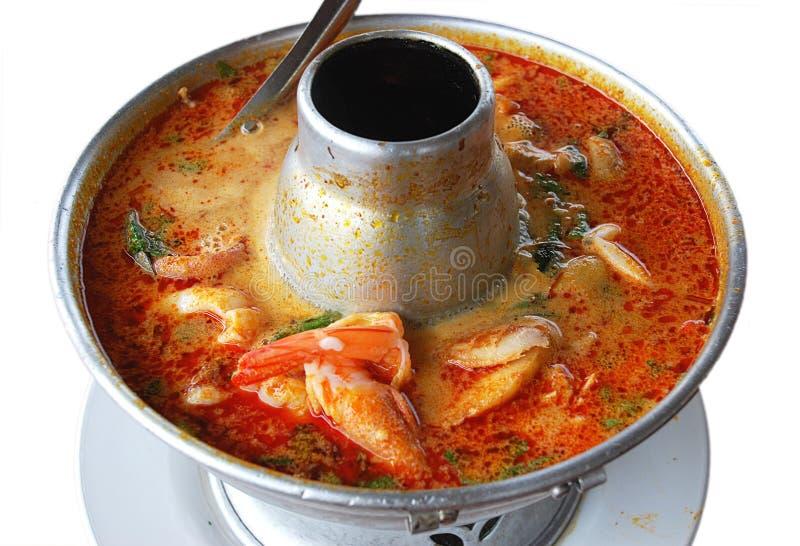 thai soup royaltyfri bild