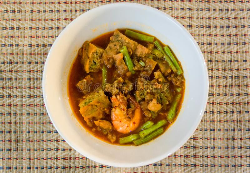 Thai sour curry royalty free stock photography