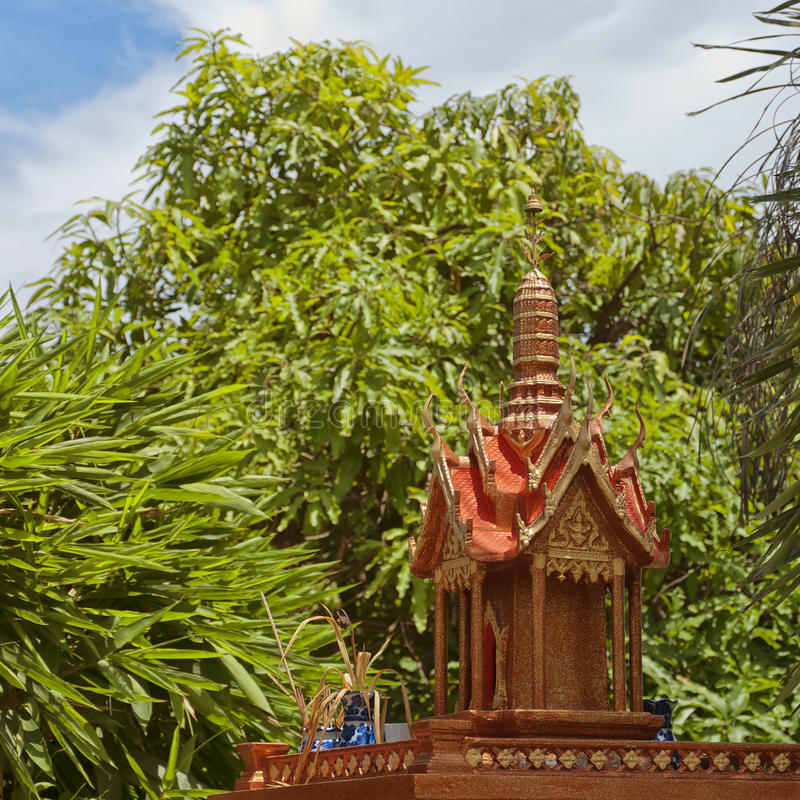 Download Thai spirit house 06 stock photo. Image of house, offering - 25850484