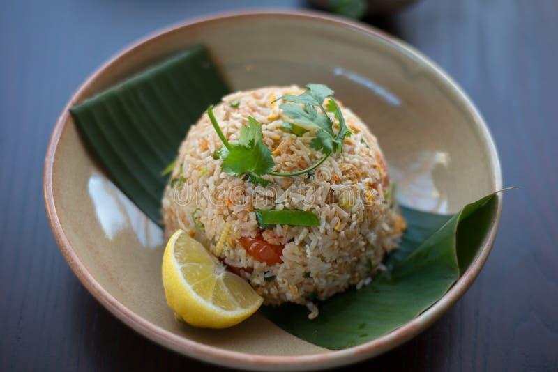 thai stekt rice royaltyfria foton