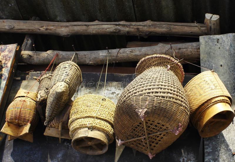 Download Thai Sticky Rice Container Bamboo Craft Stock Photo - Image: 31468240