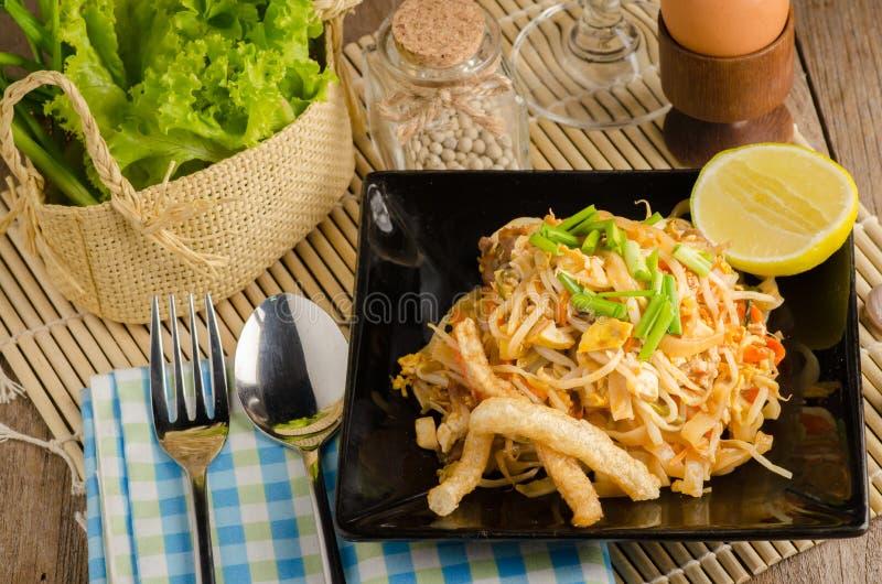 Thai stir-fried rice noodles & x28;Pad Thai& x29; stock image