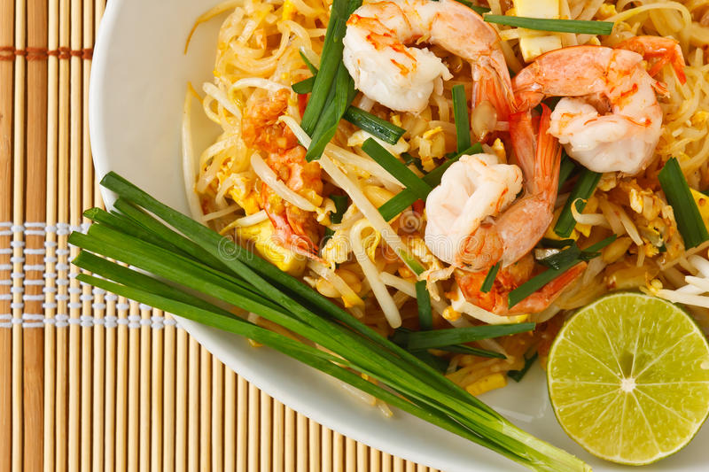 Download Thai Stir-fried Rice Noodles (Pad Thai) Stock Photo - Image: 19620124