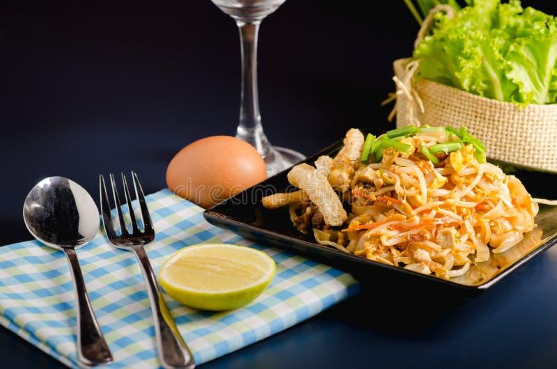 Thai stir-fried rice noodles & x28;Pad Thai& x29; stock images