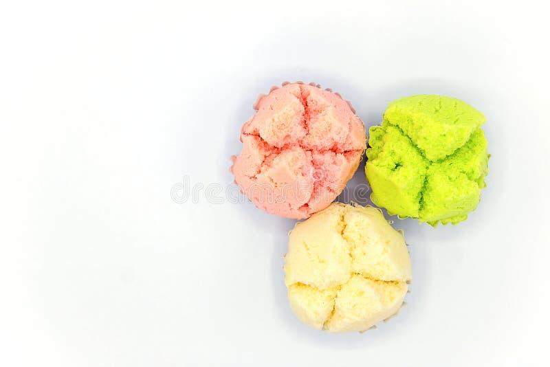 Thai stoomde cupcake stock foto's