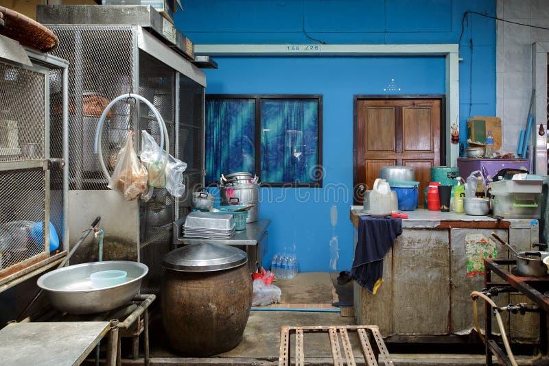 Thai street kitchen. Traditional Thai street kitchen in Bangkok, Thailand stock photo
