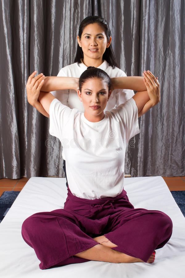 Download Thai stretch massage stock image. Image of practice, healthy - 19305505