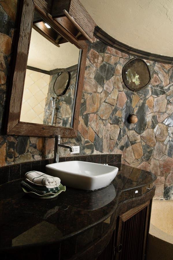 Thai style bathroom stock photo. Image of home, towel ...