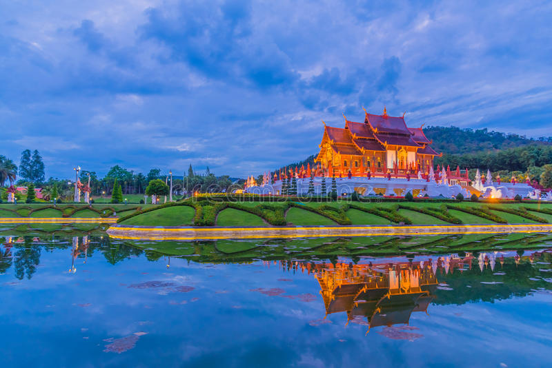 thai style building in Royal Flora temple . royalty free stock images
