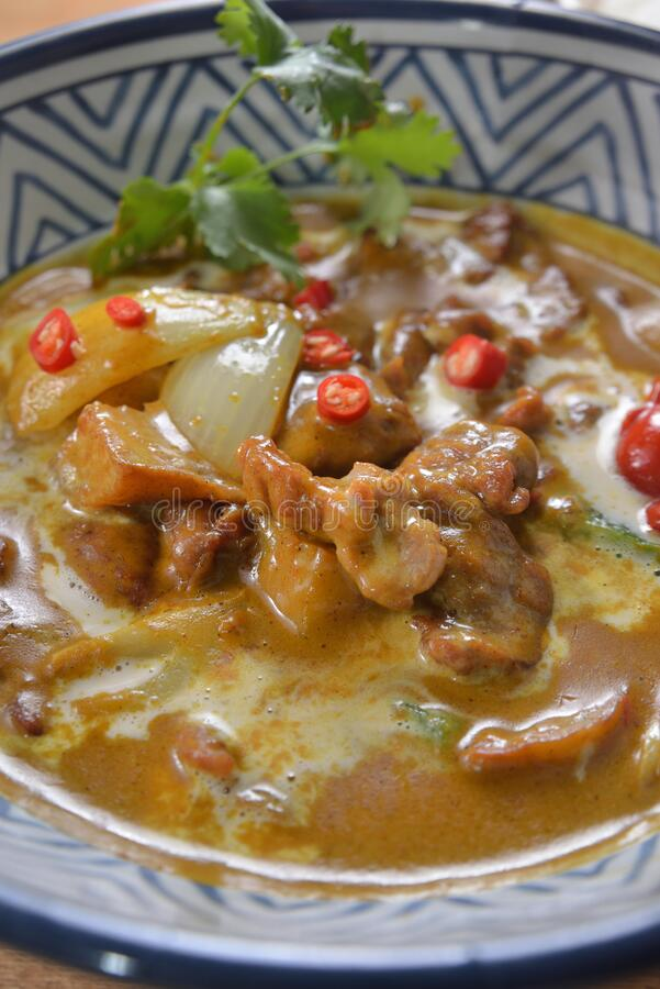 Chilly Curry Beef. Thai style Chilly stew curry beef stock photography