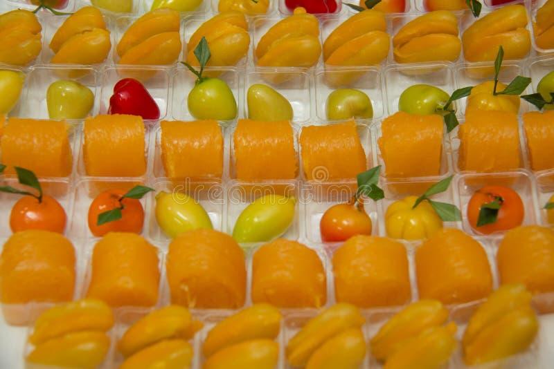 Thai style dessert colorful. Thai dessert various royalty free stock image