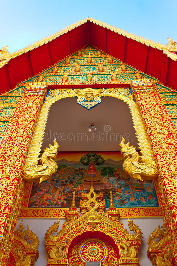 Thai style gable in the monastery