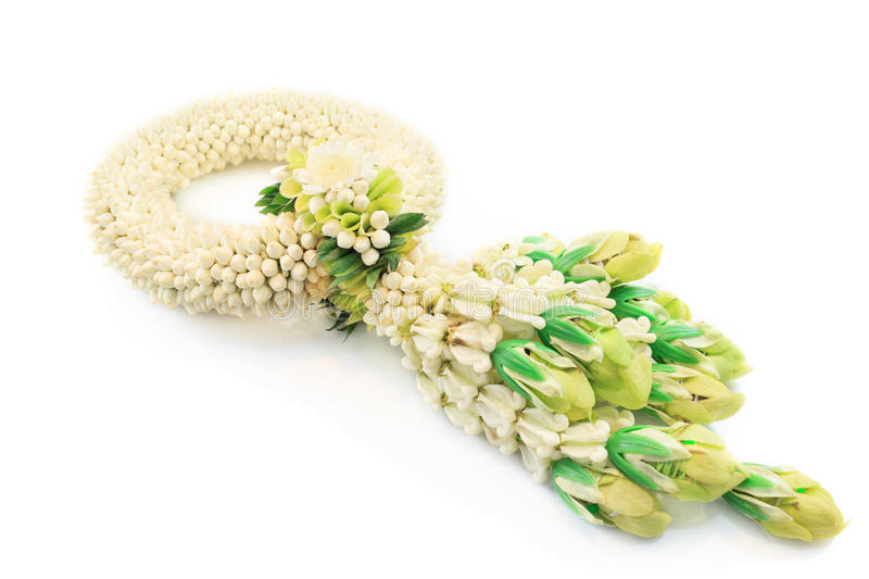 Thai style garland. On white background stock images
