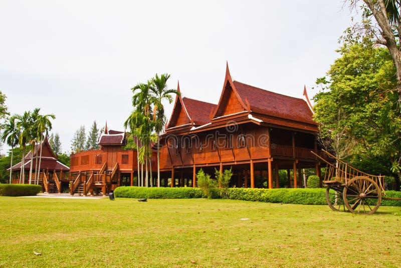 Thai style house stock photo