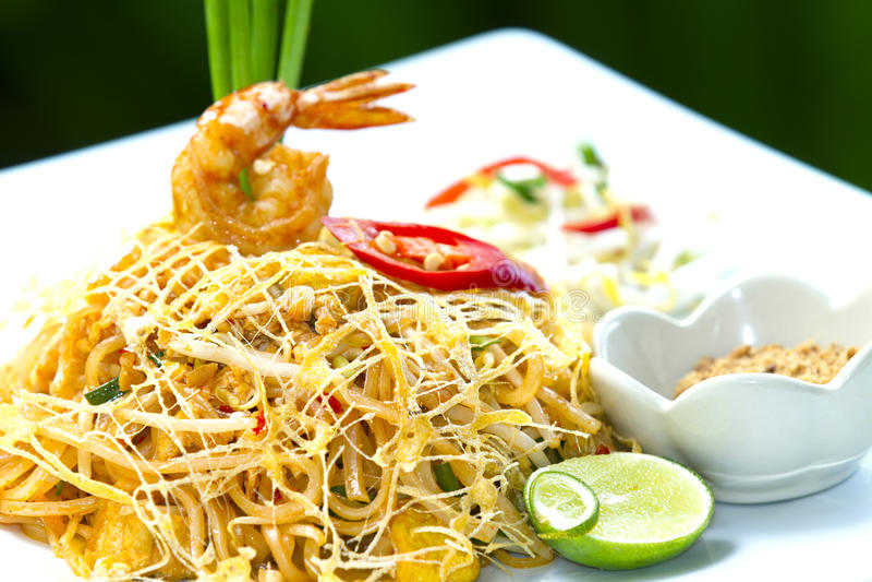 Thai style noodles royalty free stock photo