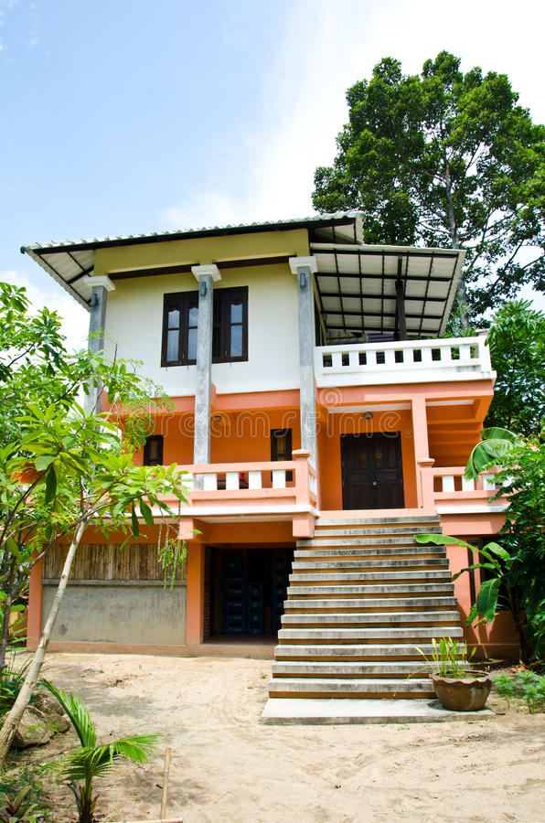 Thai Style Old House. Stock Photo