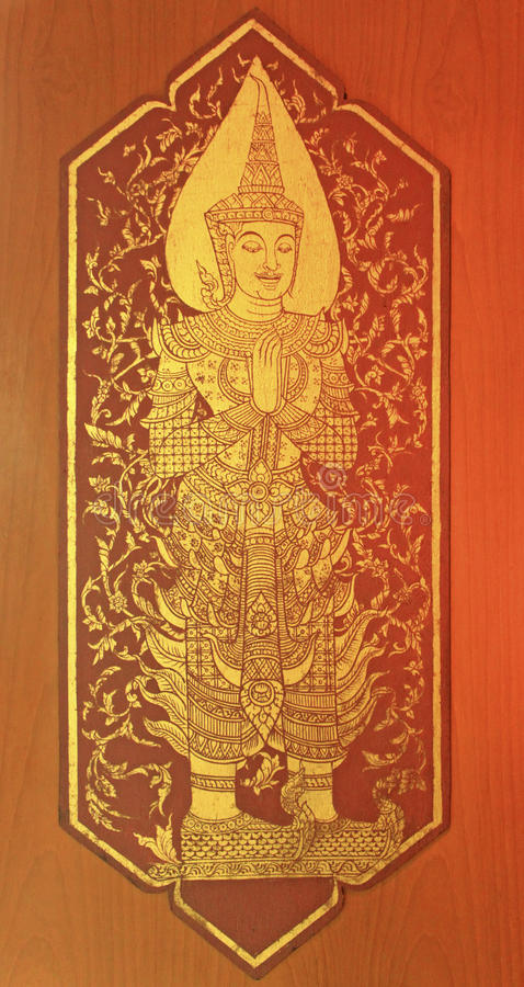 Thai style painting royalty free stock images