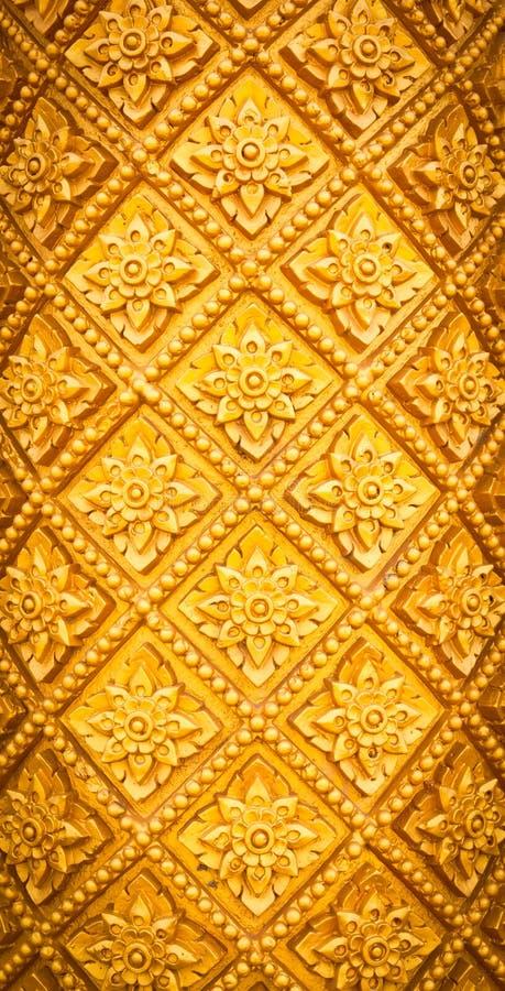 thai style pattern design handcraft on wood stock photos
