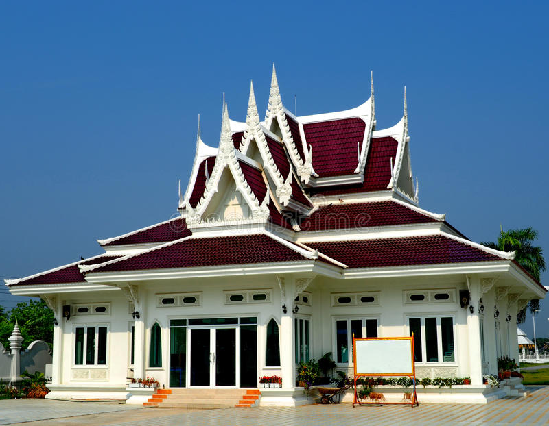 Thai style pavilion in peaceful surrounding stock image