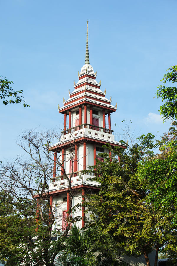 Thai style plublic tower in bankok ,thailand. Thai buddhist style plublic tower in bankok ,thailand stock photo