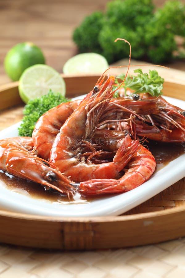 Thai style prawn stock photos