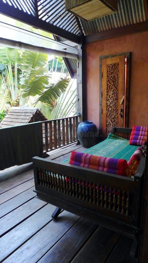 Thai style resort house balcony royalty free stock image