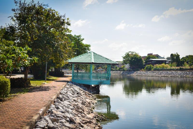 Pavilion River side. The Thai style river side pavilion royalty free stock image