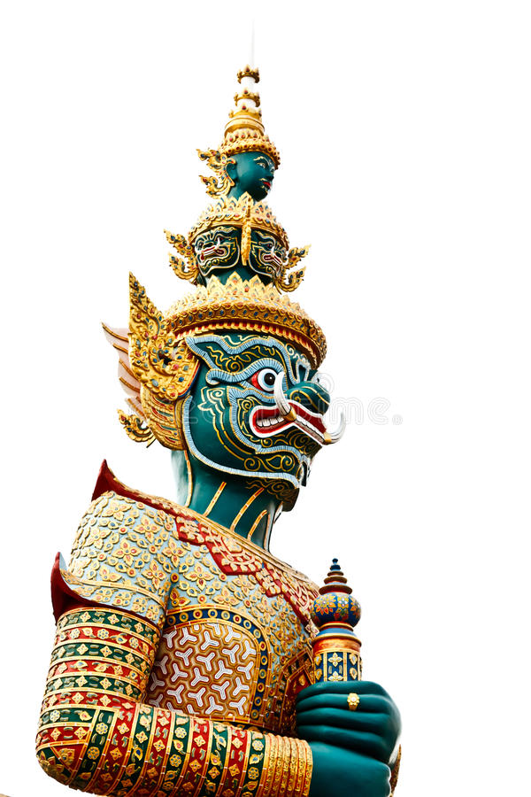 Free Thai Style Statue Of Tosakan Royalty Free Stock Images - 21884039