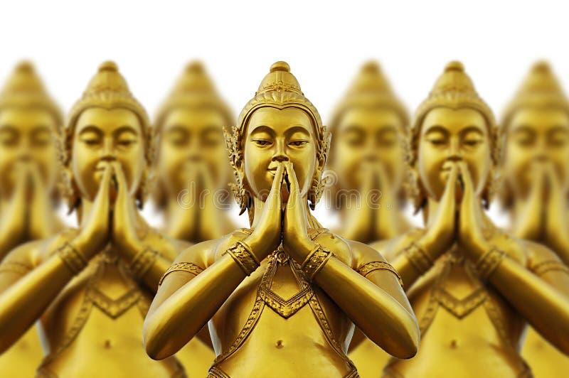 Thai style statues stock photo