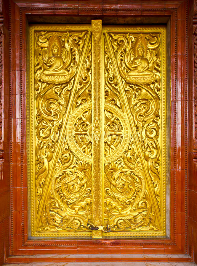 Free Thai Style Temple Door Royalty Free Stock Images - 16488089