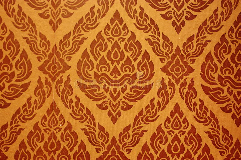 Thai style wallpaper. The image of Thai style wallpaper at the musium royalty free stock images