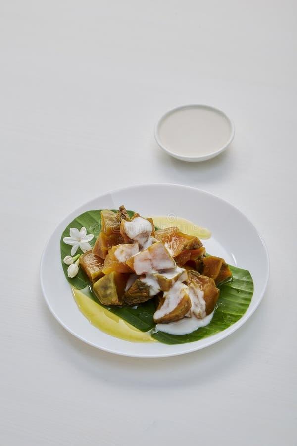 Thai sweet food pumpkin stock photography