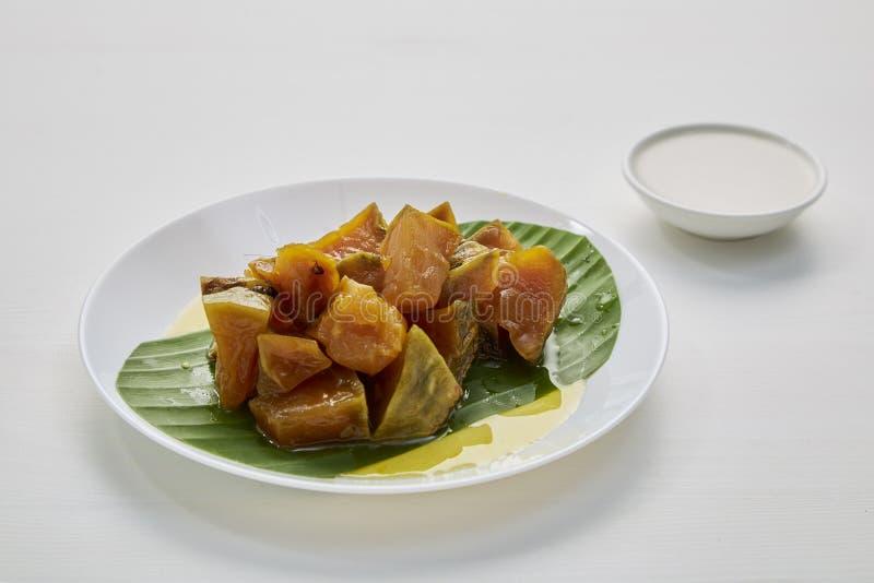 Thai sweet food pumpkin stock images