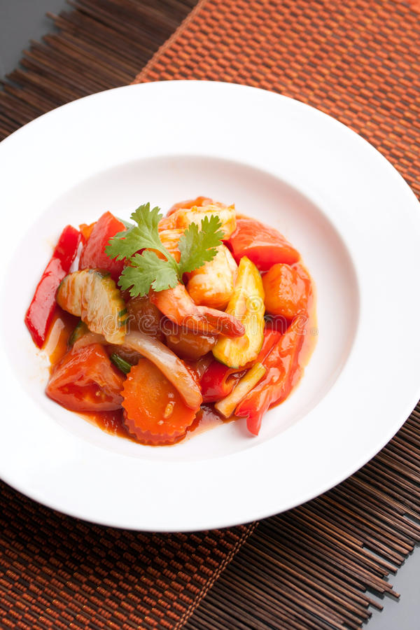 Download Thai Sweet and Sour Shrimp stock image. Image of dinner - 23716851