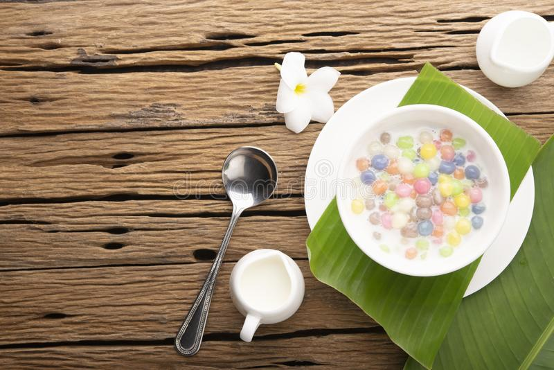 Thai sweets and colorful ball stock image