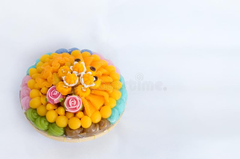 Thai sweets, or Khanom Thai have unique, colorful appearance and distinct flavors. The art of Thai desserts have been passed down. Through the generations. Thai stock photos
