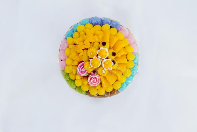 Thai sweets, or Khanom Thai have unique, colorful appearance and distinct flavors. The art of Thai desserts have been passed down through the generations. Thai stock photo