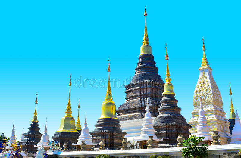 Thai tample architecture. Architecture of jadee or tample in thailand stock images