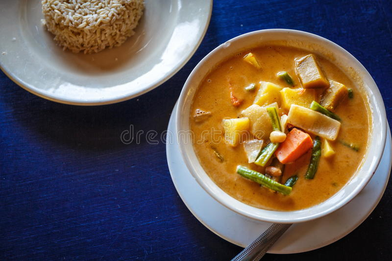 Thai tasty soup royalty free stock photography