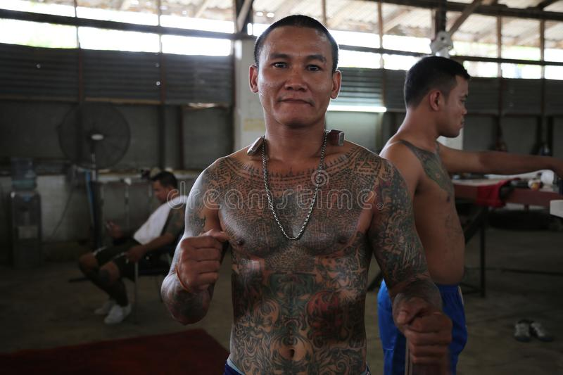 Muay Thai Prison Fighter stock photography