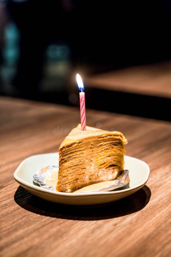 Thai tea crape cake stock photos