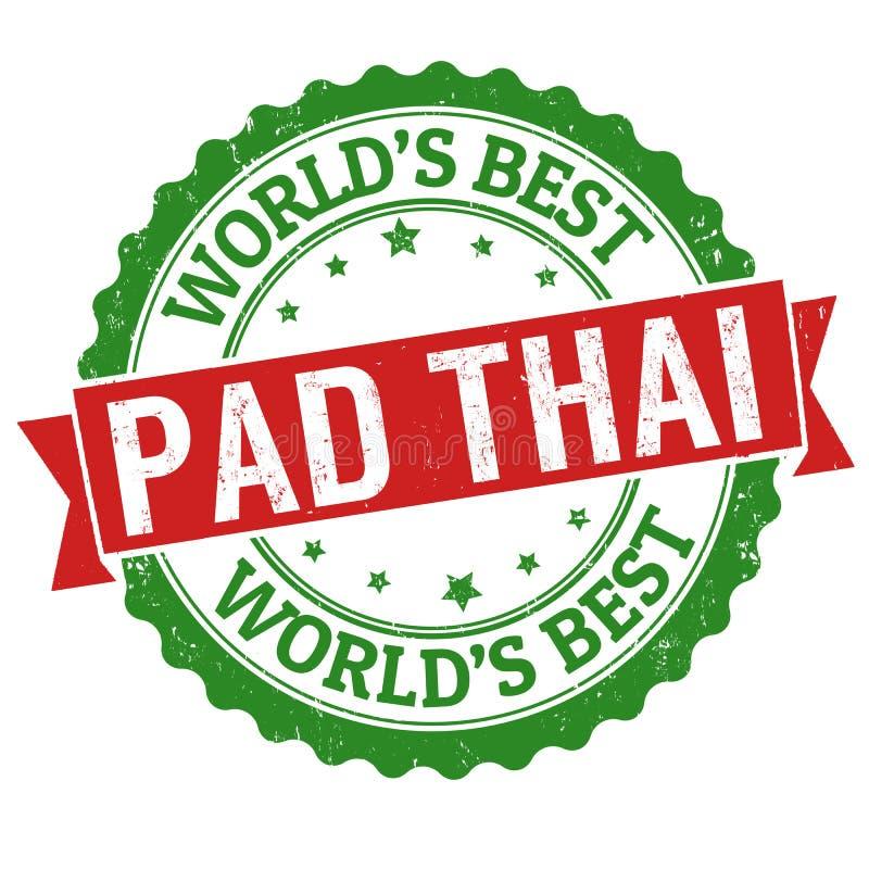 Thai tecken eller stämpel för block stock illustrationer